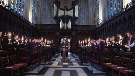 100 years of the Festival of Nine Lessons and Carols from King's Choir in Cambridge will be shown on