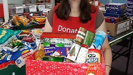 Ely Foodbank @ March is preparing to hand out hampers to clients for Christmas 2018. The number of f