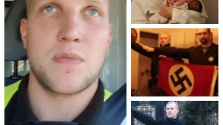 Nathan Pryke of March (left) who admitted membership of banned neo-Nazi group National Action. He wa