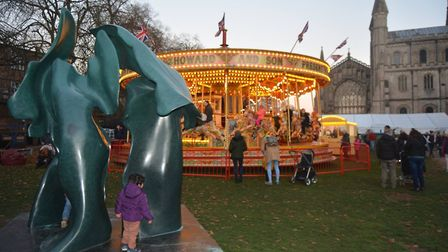 A magical festive fair set inside the iconic Ely Cathedral welcomed hundreds of visitors. Picture: M