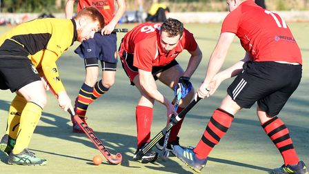 Wisbech 2nds v March 1st hockey. Picture: IAN CARTER.