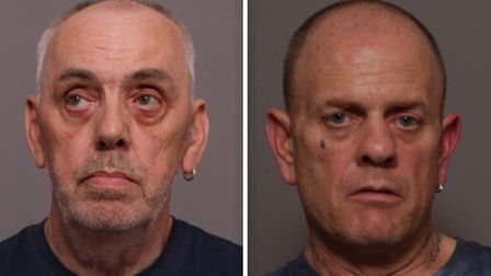 David Bowler (left) and David Cooper (right) have been jailed after burgling an elderly womans home