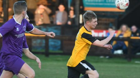 Action from March Town's big derby victory against Wisbech St Mary. Picture: IAN CARTER.