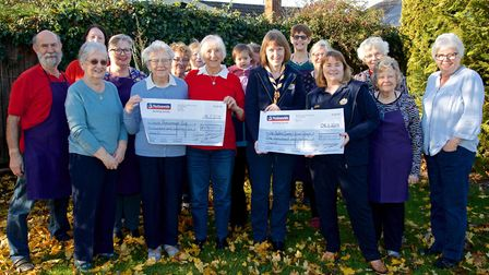 Nellies community caf in Sutton donates more than 1,600 to local charities 1st Sutton Scout Group an
