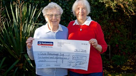 Nellies community caf in Sutton donates 676 to local charity Cruse Bereavement Care. Picture: IAN ST