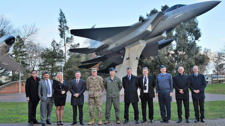 Ceremony held at RAF Lakenheath to celebrate news of a £160 billion contract to bring the F-35 fight