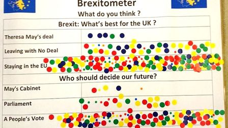 Ely brings out it 'brexitometer' to test the waters for either remain or a People's Vote - there's o