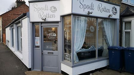 Three March businesses were targeted by suspected thieves over the weekend - Spoilt Rotten (pictured
