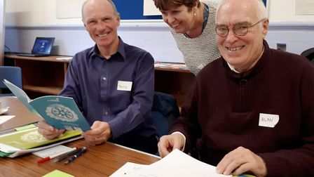 Volunteers jump on board Fenland's Travel Champions initiative. Transport Champions, from left, Terr
