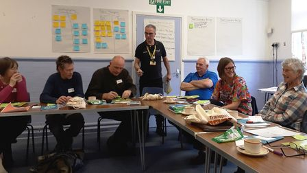 Volunteers jump on board Fenland's Travel Champions initiative. Travel champions are pictured during