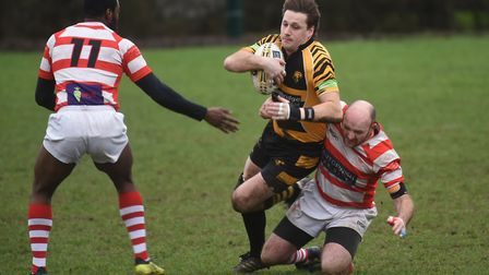 Action from Ely's match against Thetford (pic Ian Carter)