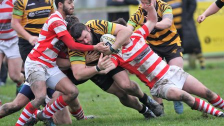 Jacob Muncey powers over for an Ely Tigers try (pic Steve Wells