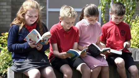Pupils at Peckover in Wisbech - The top reading schools in Cambridgeshire have been announced follow