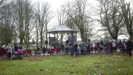 Christmas concert at Wisbech Bandstand was a great success. Manea Band and Father Christmas were amo