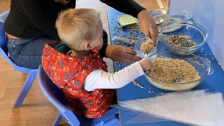 Family Festive fundraising morning at Clarence House Day Nursery in Chatteris. Picture: CHARLOTTE WA