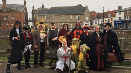 The March Mummers toured the town centre last weekend. Picture: NICKY STOCKMAN