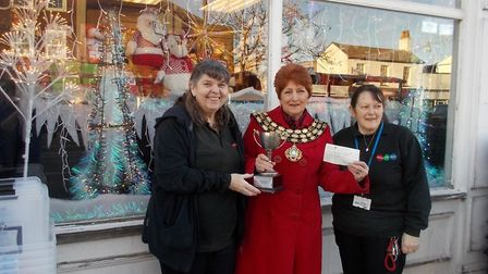 Winter wonderland shop front wins best dressed window in March for Thing-Me-Bobs. Picture: Peter Tre