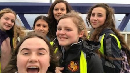 Five students from Soham Village College have raised more than £1000 after taking part in a sponsore