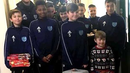In the run up to Christmas team manager Alfie Oakman and some of the Witchford U13 Blue team players