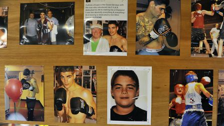 A board of photos includes Tyler Goodjohn atHaddenham Boxing Club. Picture: KATH SANSOM