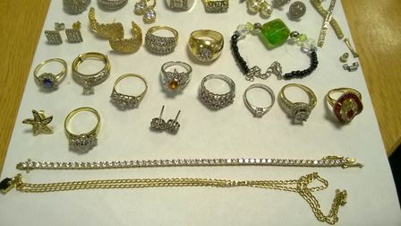 Items recovered by police from a gang responsible for almost 100 raids in Cambridgeshire. Picture: C