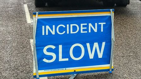 A lorry caused traffic chaos on the A47 after it jack-knifed near Guyhirn. Picture: CAMBS COPS
