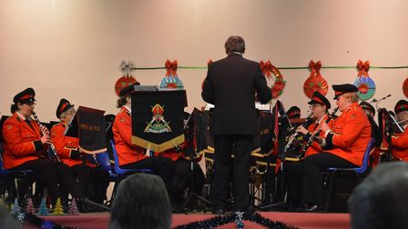 Carols brought festive cheer as the City of Ely Military Band held their annual Christmas concert. P