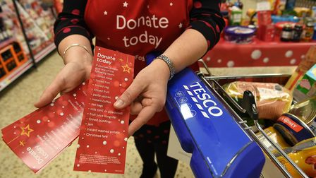 Ely shoppers have donated 6,000 meals to those in need this Christmas. Picture: ANDREW PARSONS