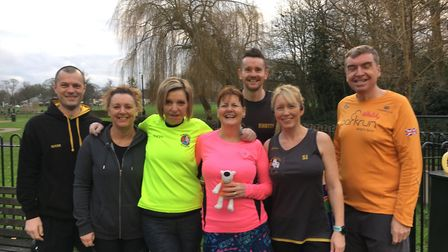 Three Counties Running Club members at March