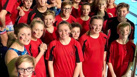 Dunmow Atlantis swimmers at their Arena League meeting