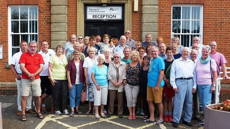 Fenland Twinning Association's holds its annual meeting and tea party. Seen here outside Fenland Hal