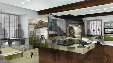 This is what the downstairs exhibition gallery of Ely Museum could look like.