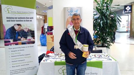 Arthur Rank Hospice's 531 volunteers provide support across a range of roles across the entire year,