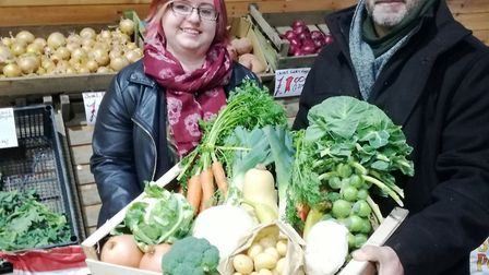 Fresh organic produce from local farmers available at new farm shop in Littleport. Picture: RICHARD