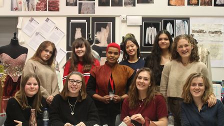 Fashion and design students at King's Ely were able to pick up tips and advice from award-winning de