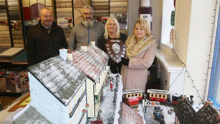 Photos show the top three winners with the Mayor of Whittlesey Cllr Julie Windle and Chairman of the