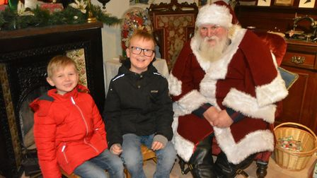 Santa stops by at Ely Museum. Picture: MIKE ROUSE