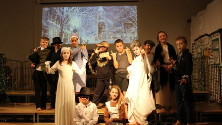 Keystage 2 pupils performed Ebenezer Junior for their Christmas show. Picture: CONTRIBUTED