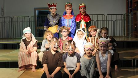KS1 pupils at Dunmow St Mary's Primary School performed their take on the nativity story. Picture: C