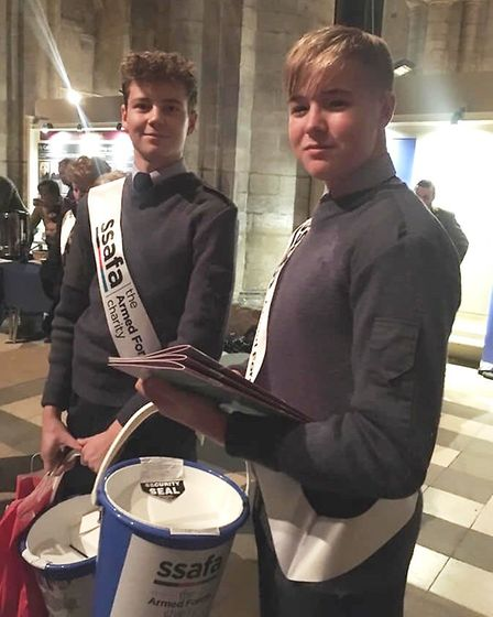 Ely air cadets join in the seasonal spirit at Ely Cathedral Festival of Carols. Picture: ELY CADETS
