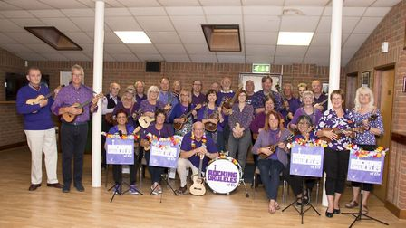 Christmas cheer from the Rocking Ukuleles for Ely and District Parkinsons Disease Support Group. Pic