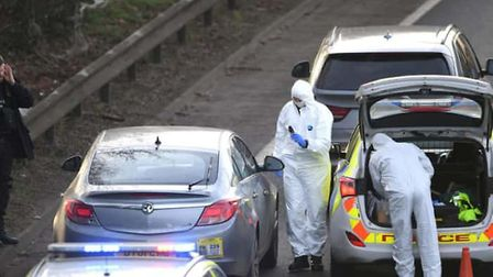 Armed police swooped on a Vauxhall Insignia on the A47 at Peterborough this afternoon (January 9). P
