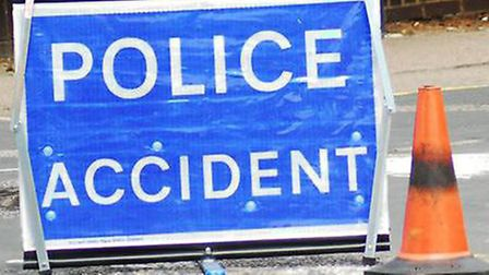 Car crashes into ditch on March bypass. Picture: ARCHANT.