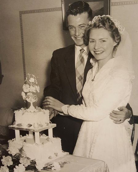 Teenage sweethearts Tom and Dot Hensby from Mepal celebrate 60 years together. Picture: FAMILY