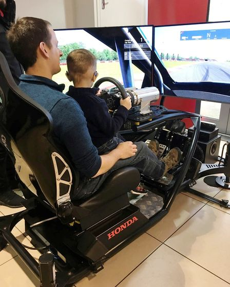 Inspirational children were treated to a day in the fast lane as they took part in an open day at Cr
