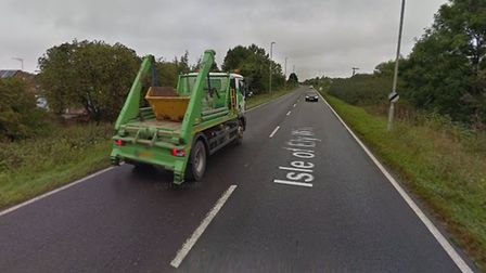 A crash closed the A141 between March and Chatteris for more than three hours after a lorry left the