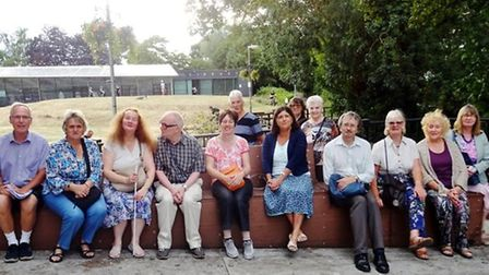 March Society members enjoyed an informative evening stroll around the town's conservation areas in