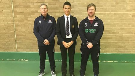 George Gowler (centre), a Wisbech Grammar School cricketer from March, has joined an emerging player