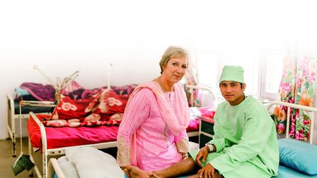 Pam Rhodes in a Nepal Hospital