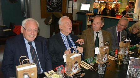 Cllr John Yates (second left) at the annual Christmas dinner for City of Ely councillors in December